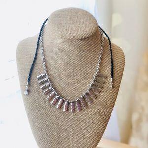 ChloeIsabel Hero metal fringe convertible necklace